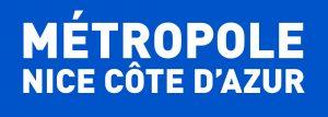 LOGO Metropole BLANC cartouche BLEU